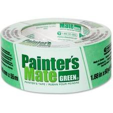 """Painter's Mate Green Painter's Mate Green Tape - 60 yd (54.9 m) Length x 1.88"""" (47.8 mm) Width - 1 Each - Green"""