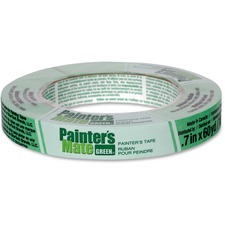 "Painter's Mate Green Painter's Mate Green Tape - 0.70"" (17.8 mm) Width x 60 yd (54.9 m) Length - Residue-free, Flexible - 1 Each - Green"