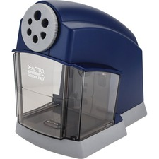 X-Acto SchoolPro Electric Pencil Sharpener - Helical - Blue, Gray
