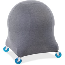 Posture Perfect Solutions Evolution Chair Ball Chair Grey Cozy Slipcover - Supports Ball Chair - Breathable, Non-toxic, Antibacterial, Odor Resistant, Environmentally Friendly - Fabric - Heather Gray - 1