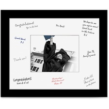 "St. James® Bold Border Certificate Frame - 22.50"" x 18.50"" Frame Size - Rectangle - Landscape, Portrait - Double Mat - 1 Each - Black, White"