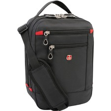 "Holiday Travel/Luggage Case (Suitcase) Luggage - Black - Slip Resistant Shoulder Strap - Polyester - Shoulder Strap - 11.25"" (285.75 mm) Height x 7.50"" (190.50 mm) Width x 4.50"" (114.30 mm) Depth - 1 Pack"