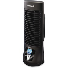 "Honeywell Quietset Table Fan - Oscillating, Timer-off Function, Quiet, Capacitive Touch Control Panel - 13"" (330.20 mm) Height x 5.80"" (147.32 mm) Width x 5.80"" (147.32 mm) Depth - Black"