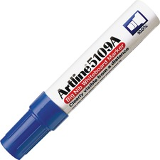 Jiffco Artline 5109A Big Nib Whiteboard Marker - Bold Marker Point - Chisel Marker Point Style - Refillable - Blue - Acrylic Fiber Tip - 1 Each