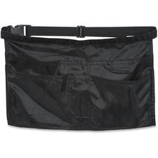 Merangue Three-pocket Cash Apron - 3 - Nylon - For Multipurpose - Black - 1 Each