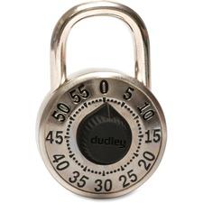 Master Lock DYRP7SP Padock - 3 Digit - Cut Resistant - Brass, Hardened Steel Shackle, Nylon Bearing - Black - 1 Each