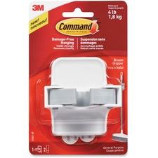 Command Broom Gripper - for Multipurpose - White - 1 Each