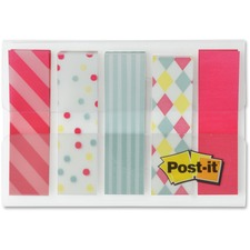 """Post-it® Designer 1/2"""" Flags Candy Collection - 0.50"""" - Removable, Repositionable - 100 / Pack"""