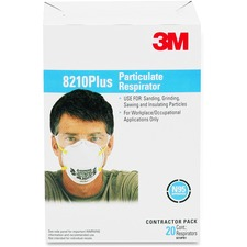 3M Safety Respirator - Recommended for: Sanding, Grinding, Sweeping, Bagging - Elastic Strap, Adjustable Nose Clip - Dust Protection - 1 Each