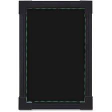 "Quartet Electronic Sign - 1 Each - 8"" (203.20 mm) Width x 11.50"" (292.10 mm) Height - Rectangular Shape - LED Light, Rewritable, Flasher, Built-in Stand - Black"