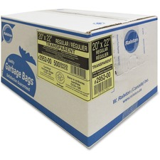 """Ralston Industrial Garbage Bags 2900 Series - Ultra - Clear and Colours - 20"""" (508 mm) Width x 22"""" (558.80 mm) Length - Clear - Hexene Resin - 500/Carton - Industrial, Garbage"""
