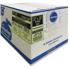 """Ralston Industrial Garbage Bags 2900 Series - Ultra - Clear and Colours - 30"""" (762 mm) Width x 38"""" (965.20 mm) Length - Transparent - Hexene Resin - 200/Carton - Industrial, Garbage"""