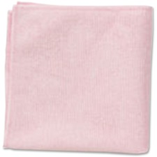 """Rubbermaid Commercial 2x12 Light Commercial Microfiber Cloth Red - Cloth - 12"""" (304.80 mm) Width x 12"""" (304.80 mm) Length - 24 / Pack - Red"""