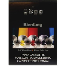 "Bienfang Canvasette - 10 Sheets - 182 lb Basis Weight - 16"" (406.40 mm) x 12"" (304.80 mm) - Heavyweight - 1Each"