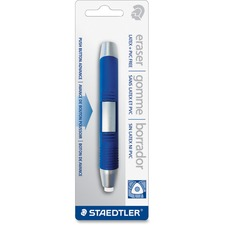 Staedtler Manual Eraser - Blue, White - Triangle - 1 / Pack - Retractable, Ergonomic, Latex-free