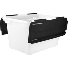 Storex Swing Top File Storage Tote - 45 L - Media Size Supported: Letter, Legal - For File - 1 Each