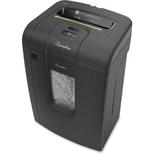 "Swingline SX19-09 Paper Shredder - Cross Cut - 19 Per Pass - for shredding Paper, Paper Clip, Staples, Credit Card, CD - 9"" Throat - 22.71 L Wastebin Capacity - Black"