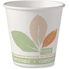Solo 10oz Pla/Paper Hot Drink Cup (Compostable & Renewable) - 295.74 mL - 50 / Pack - Paper - Coffee, Hot Drink