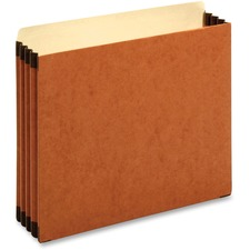 """Pendaflex Straight Tab Cut Letter Recycled File Pocket - 8 1/2"""" x 11"""" - 3 1/2"""" Expansion - Top Tab Location - Brown - 30% Recycled - 10 / Box"""
