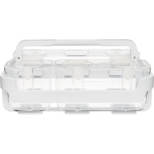 "Deflecto Stackable Caddy Organizer - 6.4"" Height x 14"" Width x 10.1"" Depth - Wall Mountable - White - Plastic - 1Each"