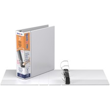 "QuickFit QuickFit PRO Single Touch D-ring View Binder - 3"" Binder Capacity - D-Ring Fastener(s) - Inside Front & Back Pocket(s) - Polypropylene - White - Ink-transfer Resistant, Lockable, Antimicrobial, Gap-free Ring - 1 Each"
