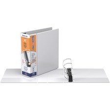 """Davis QuickFit PRO Single Touch D-ring View Binder - 4"""" Binder Capacity - D-Ring Fastener(s) - Polypropylene - White - Ink-transfer Resistant - 1 Each"""
