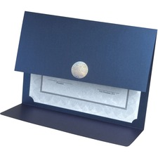 St. James® Certificate Holder - Navy Blue, Silver - 5 / Pack
