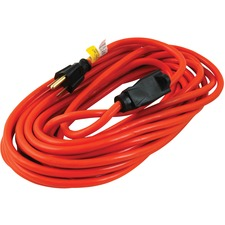 Woods Power Extension Cord - 13 A - Orange - 32.8 ft Cord Length - 1