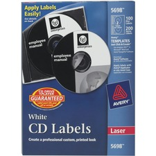 AVE 5698 Avery Laser White Matte CD/DVD Labels AVE5698