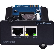CyberPower RMCARD305 OL Series Remote Management Card - SNMP/HTTP/NMS/Environmental Port - 2 x Network (RJ-45) Port(s)
