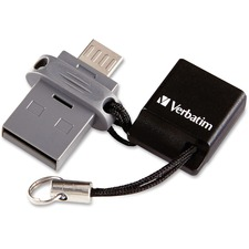 VER 99140 Verbatim 64GB Store 'n' Go Dual USB Flash Drive VER99140