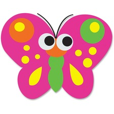 Ashley Butterfly Magnetic Whiteboard Eraser - Magnetic, Lightweight - Multicolor
