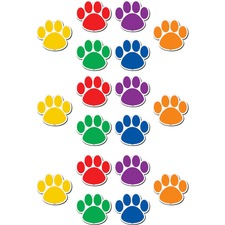 TCR 77207 Teacher Created Res. Paw Prints Magnetic Accents TCR77207