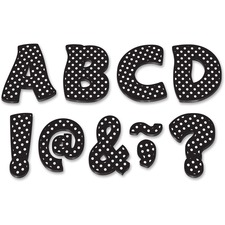 "TCR 77216 Teacher Created Res. Black/Dots 3"" Magnet Letters TCR77216"