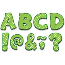 "TCR 77215 Teacher Created Res. Lime/Dots 3"" Magnet Letters TCR77215"
