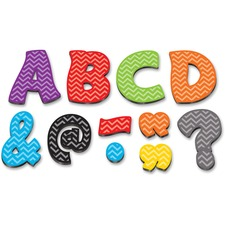 """TCR 77213 Teacher Created Res. Chevron 3"""" Magnetic Letters TCR77213"""