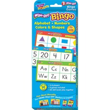 TEP 6601 Trend Wipe-Off Alphabet Shapes Bingo Game TEP6601