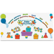 CDP 110235 Carson Boho Birds Birthday Bulletin Board Set CDP110235