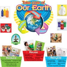 TEP 8262 Trend Reduce/Reuse/Recycle Bulletin Board Set TEP8262