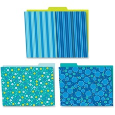 CDP 136002 Carson Bubbly Blues File Folders Set CDP136002
