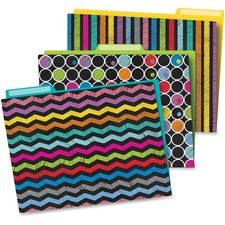 CDP 136006 Carson Colorful Chalkboard File Folders Set CDP136006