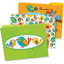 CDP 136007 Carson Boho Birds File Folders Set CDP136007