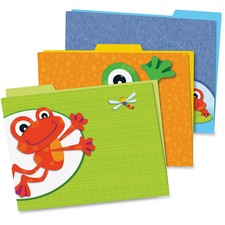 CDP 136008 Carson FUNky Frogs File Folders Set CDP136008