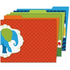 CDP 136010 Carson Parade of Elephants File Folders Set CDP136010