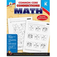 CDP 104601 Carson Common Core Connections Gr K Math Workbook CDP104601