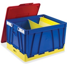 STX 61818E04C Storex Ind. 4 Piece Collapsible Crates STX61818E04C