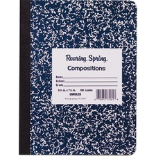 ROA 77261 Roaring Spring Blue Marble Composition Book ROA77261
