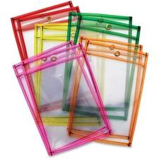 CKC 9893 Chenille Kraft Neon Color Dry-erase Pockets CKC9893
