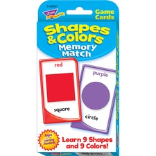 TEP 24007 Trend Shapes/Colors Memory Match Card Game TEP24007