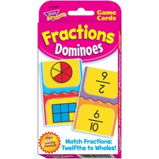 TEP 24009 Trend Fractions Dominoes Challenge Cards Game TEP24009